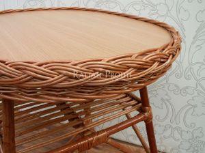Proutěný stolek ovál malý
