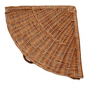Lakovaný koš na prádlo do rohu