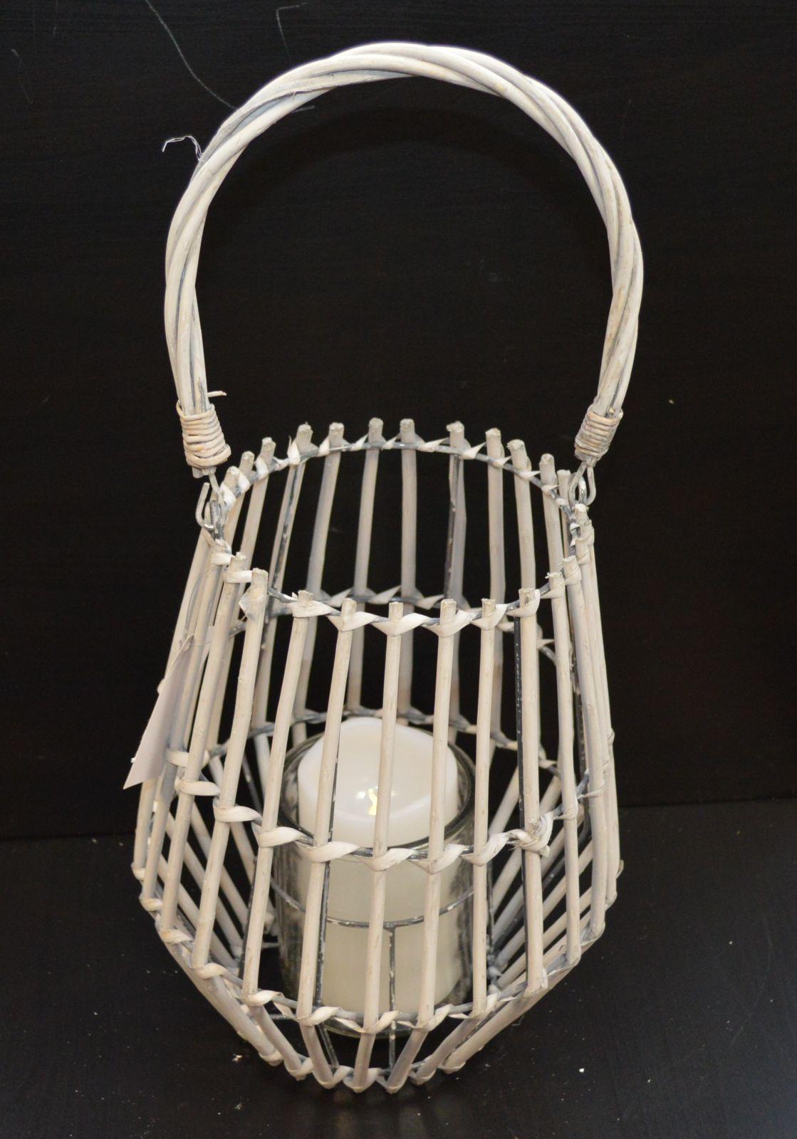 Lampion, lucerna proutěná šedá 05