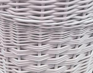 Proutěný koš na prádlo ke stěně Střední bílý