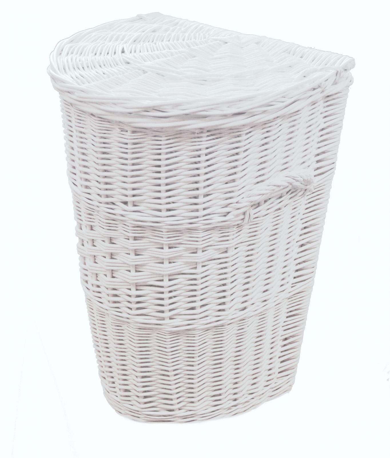 Proutěný koš na prádlo bílý