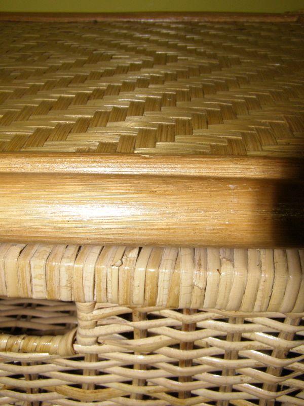 ratanový prádelník 3 zásuvky - světlý