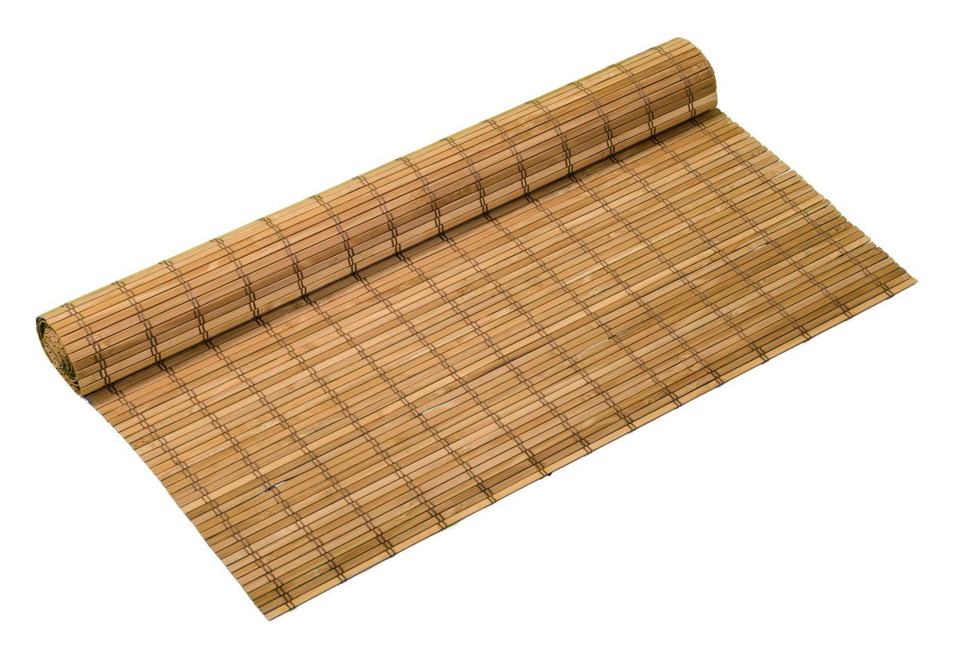 Bambusová rohož na stěnu 100x300 cm Hnědá