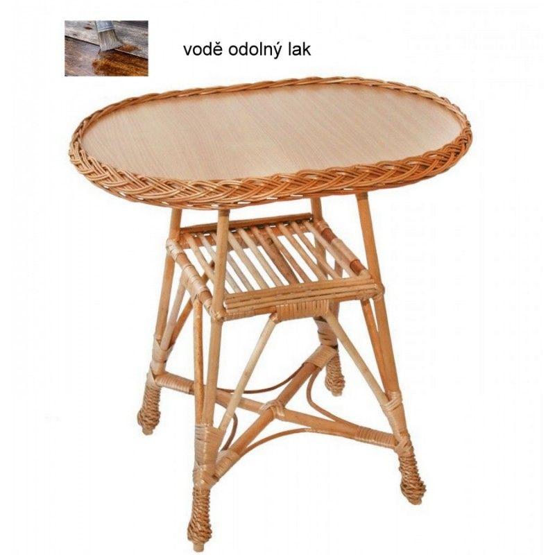 Proutěný stolek oválný
