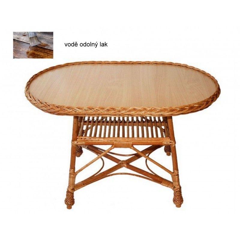 Proutěný stůl ovál velký