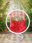 závěsné relaxační křeslo PINK - červený sedák