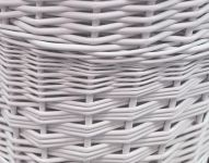 Koš na prádlo rohový bílý S