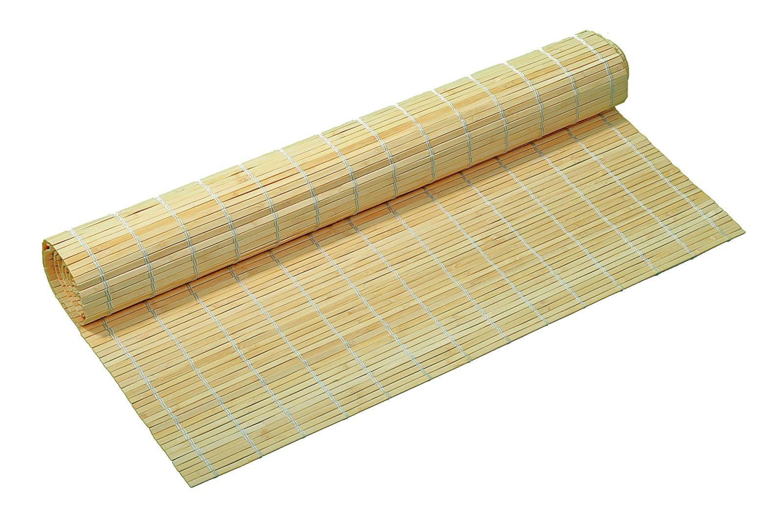 Bambusová rohož na stěnu 120x200 Přírodní