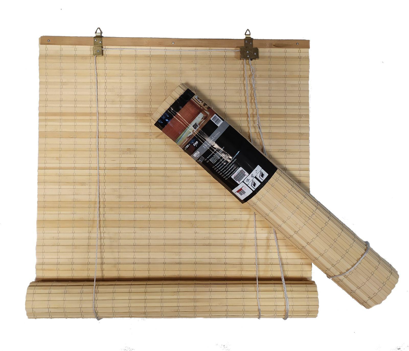 Bambusová roleta odstín PŘÍRODNÍ