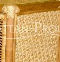 Ratan světlý med H  - Kulatý ratanový stolek PELANGI, výplet